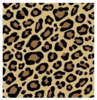 Leopard Animal Print Patterned Tissue Wrapping Paper ~ Large Sheets ~ 50cm x 75cm